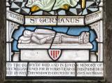 Effigy of Gruffudd ap Llywelyn ab Ynyr and Dedication: St Germanus