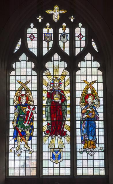 Christ with the Archangels Gabriel and Michael