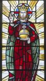 Christ in Majesty: Christ with the Archangels Gabriel and Michael