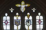 Tracery Lights: Christ with the Archangels Gabriel and Michael