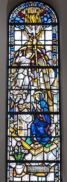 The Annunciation    from    Sanctuary Apse Windows