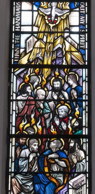 Pentecost    from    Sanctuary Apse Windows