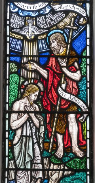 The Baptism of Christ    from    Baptistry Windows