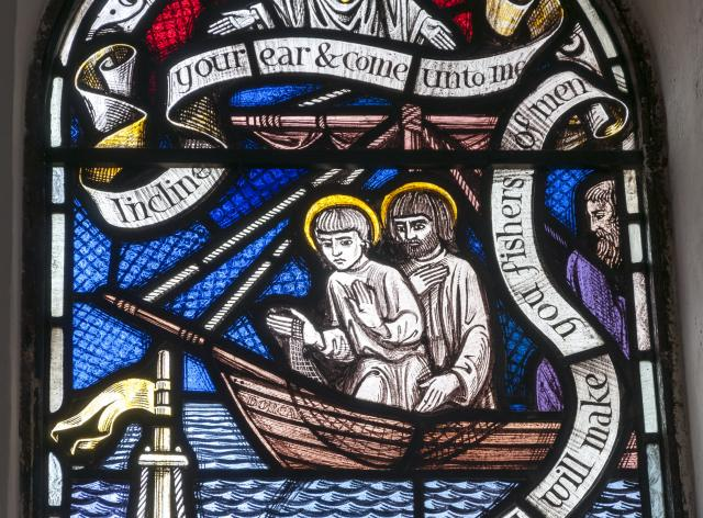 The Calling of Peter and Andrew    detail from    Baptistry Windows