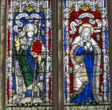 St David and the Virgin Mary: The Crucifixion with the Virgin Mary and St John with Saints