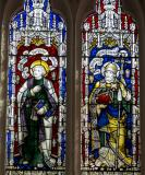 St John and St Dyfrig: The Crucifixion with the Virgin Mary and St John with Saints