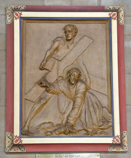 Jesus Falls while Carrying the Cross