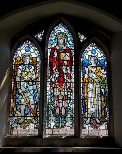 Christ in Majesty with the Archangels Michael and Gabriel