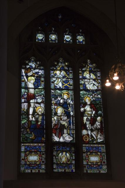 The Crucifixion with Longinus and Saints