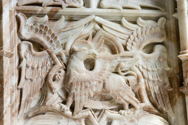 Eagle, Symbol of St John the Evangelist    detail from    The Symbols of the Four Evangelists and the Adoration of the Lamb