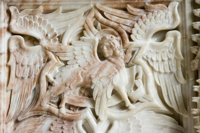 Winged Beast with the Face of a Man, Symbol of St Matthew the Evangelist    detail from    The Symbols of the Four Evangelists and the Adoration of the Lamb