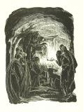 Adoration of the Shepherds and the Magi    from    Illustrations for 'Praise'