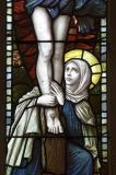 Mary Magdalene at the Foot of the Cross.: Crucifixion with Mary, John and Mary Magdalene