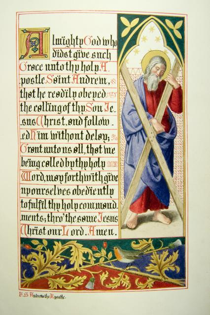 St Andrew    from    Iluminations from <em>The Book of Collects</em>