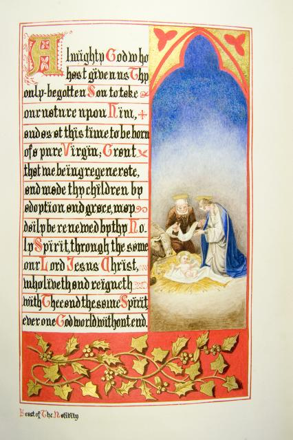 The Nativity    from    Iluminations from <em>The Book of Collects</em>