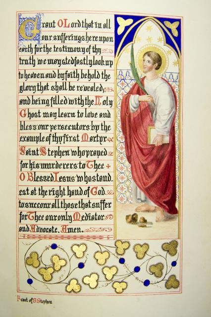 St Stephen    from    Iluminations from <em>The Book of Collects</em>