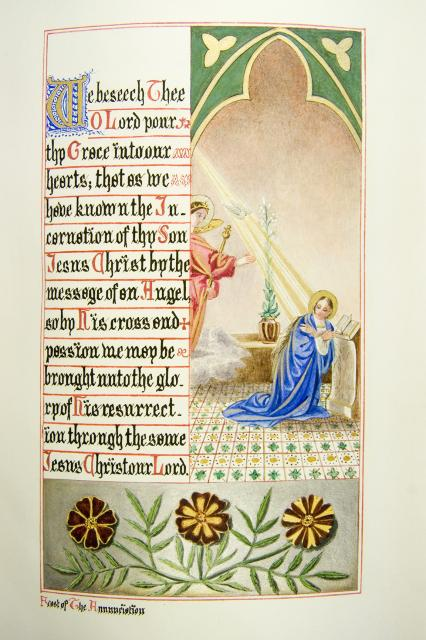 The Annunciation    from    Iluminations from <em>The Book of Collects</em>