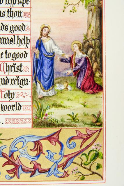 The Risen Christ Appearing to St Mary Magdalene    from    Iluminations from <em>The Book of Collects</em>