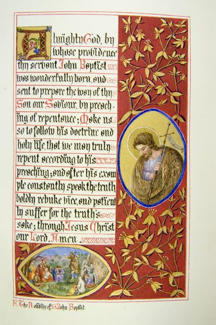 John the Baptist and John the Baptist Preaching    from    Iluminations from <em>The Book of Collects</em>