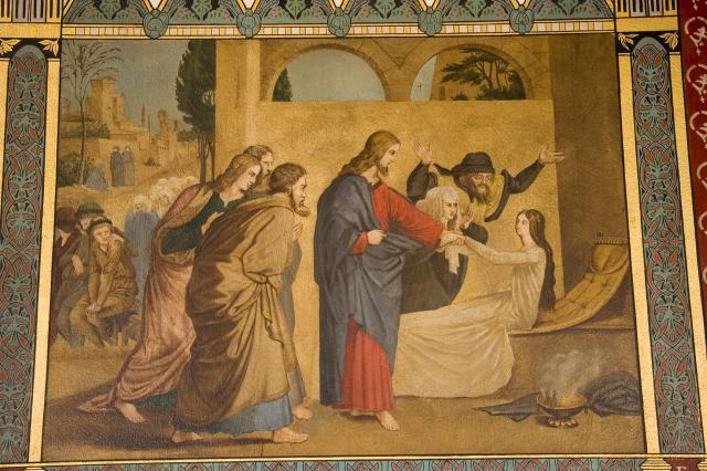 Christ Raising the Daughter of Jairus    from    Scenes from the Life of Christ