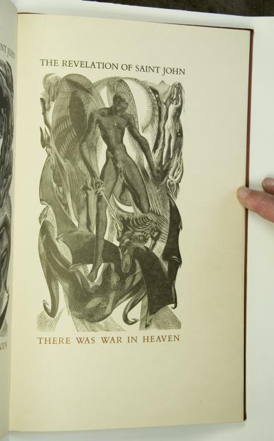 There was war in heaven    from    Illustrations from <em>The Revelation of St John the Divine</em>
