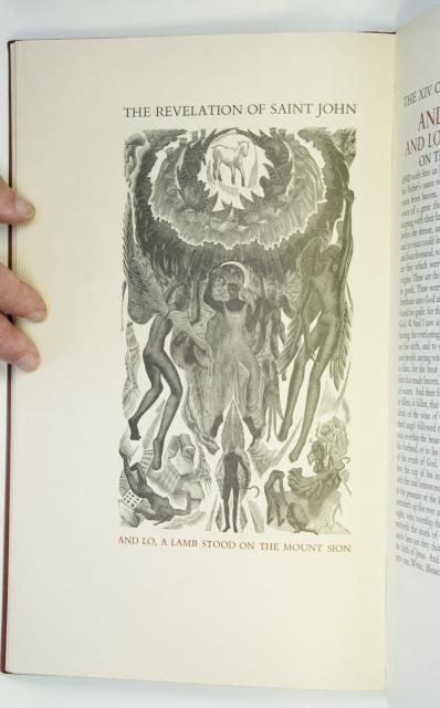 And lo, a lamb stood on the Mount Sion    from    Illustrations from <em>The Revelation of St John the Divine</em>