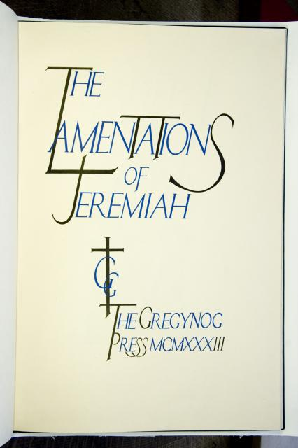 Frontispiece    from    Illustrations from The Lamentations of Jeremiah