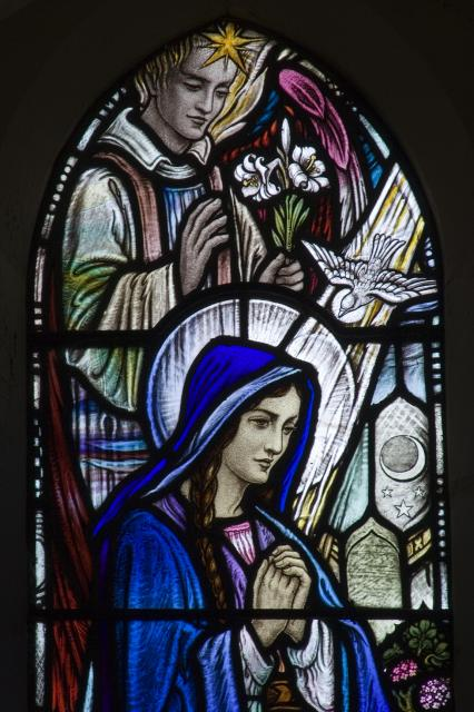 Christ the Teacher with Annunciation and St David