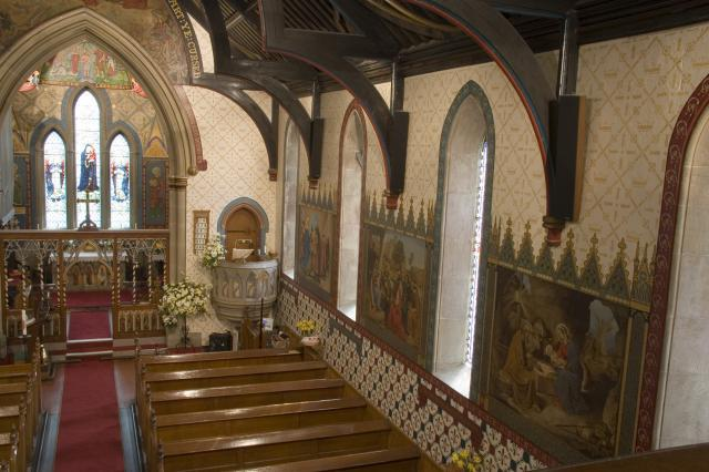 Interior of the Church of St John the Baptist, Pentrobin    from    Scenes from the Life of Christ