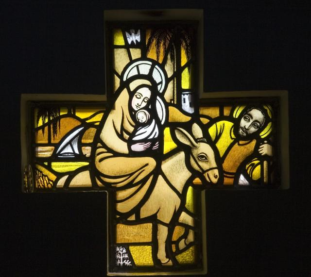 The Flight into Egypt    from    Set of Windows Depicting the Birth of Christ and Noah's Ark