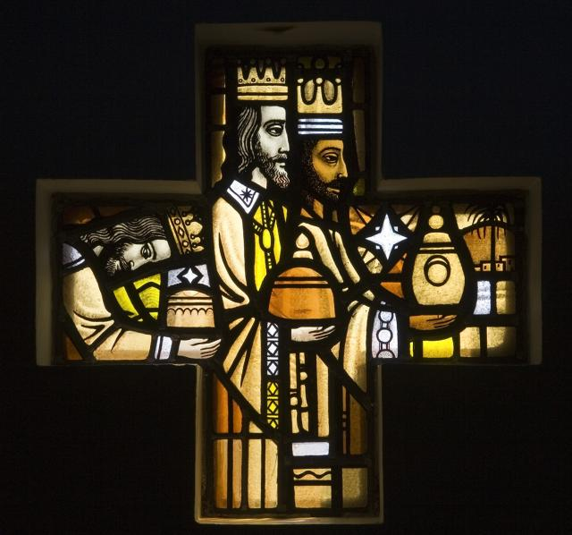 The Adoration of the Magi    from    Set of Windows Depicting the Birth of Christ and Noah's Ark
