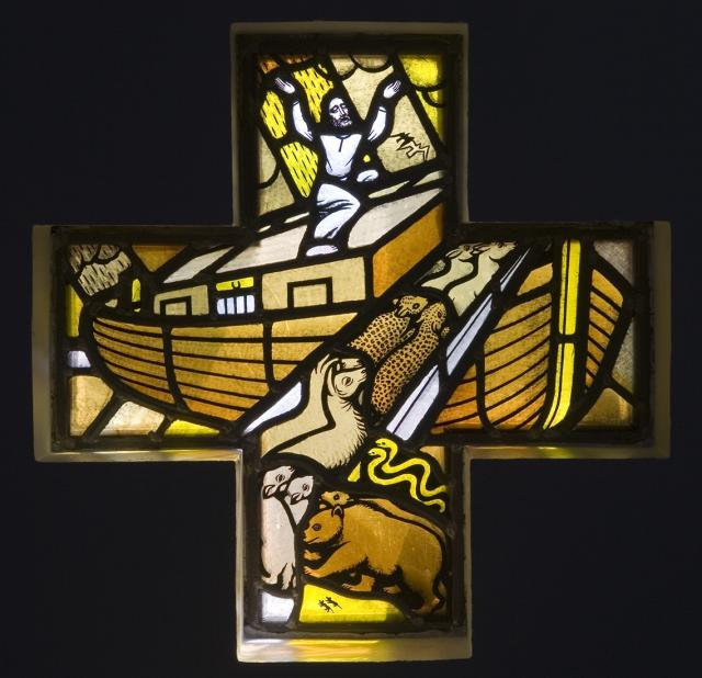 Animals Entering Noah's Ark    from    Set of Windows Depicting the Birth of Christ and Noah's Ark