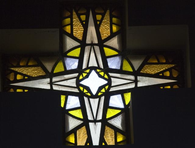 Star    from    Set of Windows Depicting the Birth of Christ and Noah's Ark