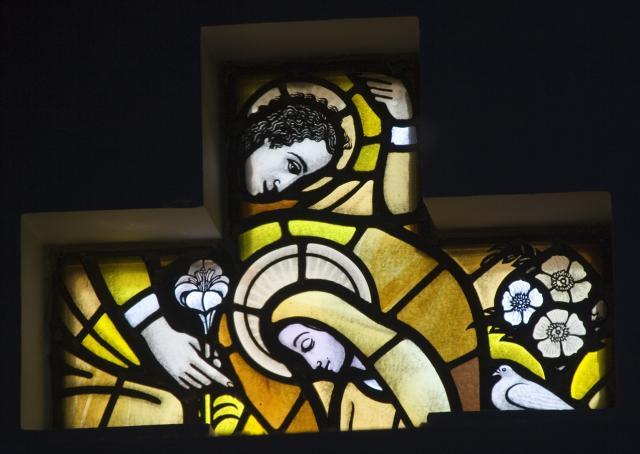 The Annunciation    from    Set of Windows Depicting the Birth of Christ and Noah's Ark