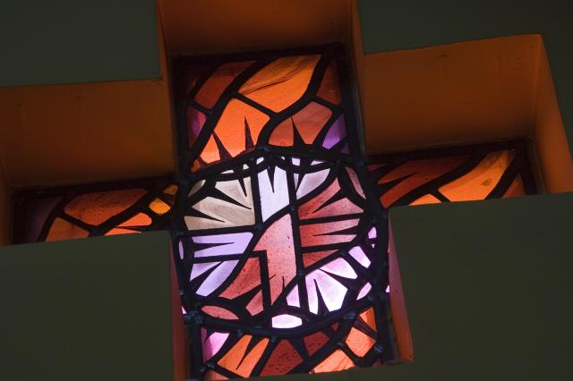 Cross Within a Crown of Thorns    from    Set of Windows with Eucharistic Symbols