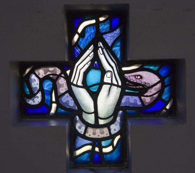 Hands Tied Together by a Serpent    from    Set of Windows in the Baptistry Chapel