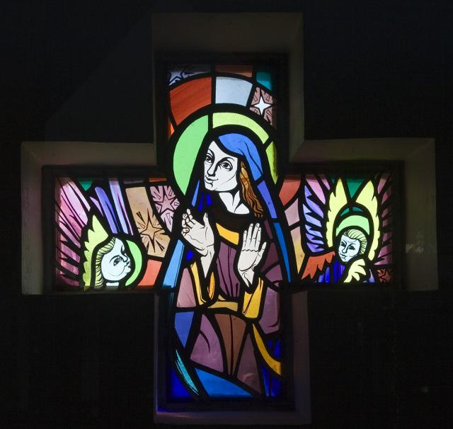 Virgin Mary with Angels    from    Set of Windows Depicting Scenes from the Life of the Virgin