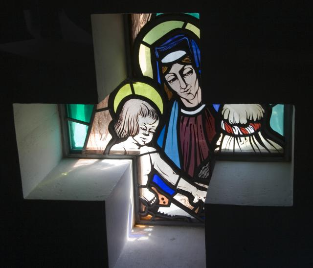 The Holy Family    from    Set of Windows Depicting Scenes from the Life of the Virgin