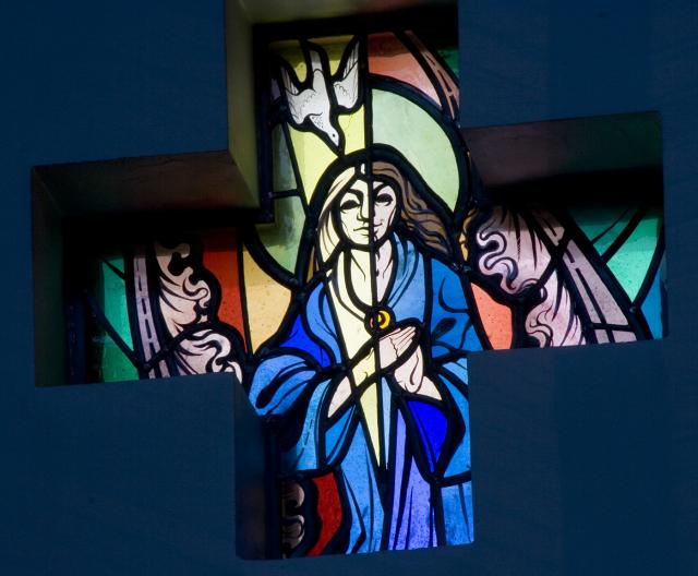 The Virgin Conceiving Christ    from    Set of Windows Depicting Scenes from the Life of the Virgin