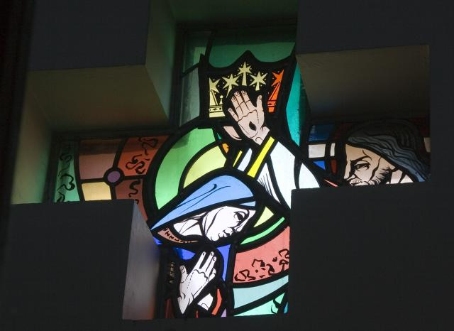 The Coronation of the Virgin Mary    from    Set of Windows Depicting Scenes from the Life of the Virgin