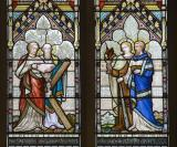 St Peter, St Andrew, St john and St James the Less: Scenes from the New Testament with the Twelve Apostles