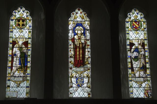 Christ in Majesty with St David and St Deiniol