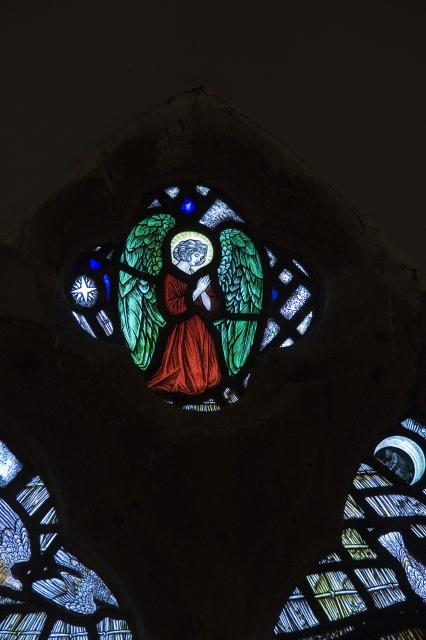 Angel    detail from   Angelic Ministration to the Christ Child
