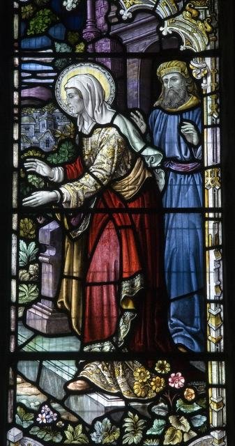 Elizabeth and Zechariah    detail from    The Visitation with Simeon and Anna