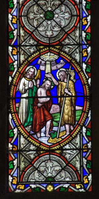 The Baptism of Christ    detail from    Scenes from the Gospels