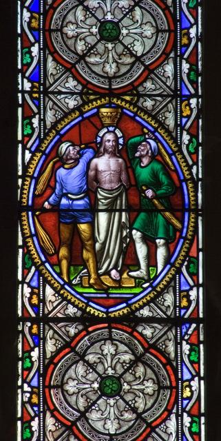 The Flagellation of Christ    detail from    Scenes from the Gospels