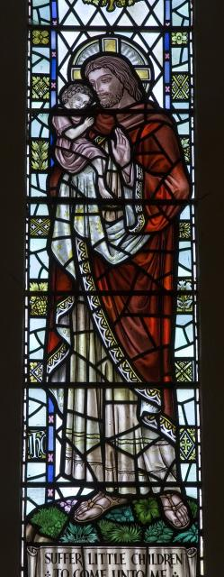 Christ Holding a Child    detail from    St John and Christ with Children