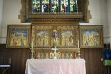 Christ the Good Shepherd with St Andrew, St Teilo and Angels