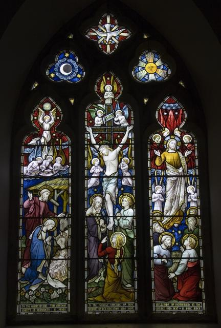Crucifixion with Nativity and Ascension