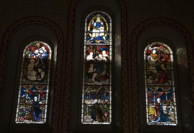 Christ in Majesty with Scenes from the Gospels and Donors